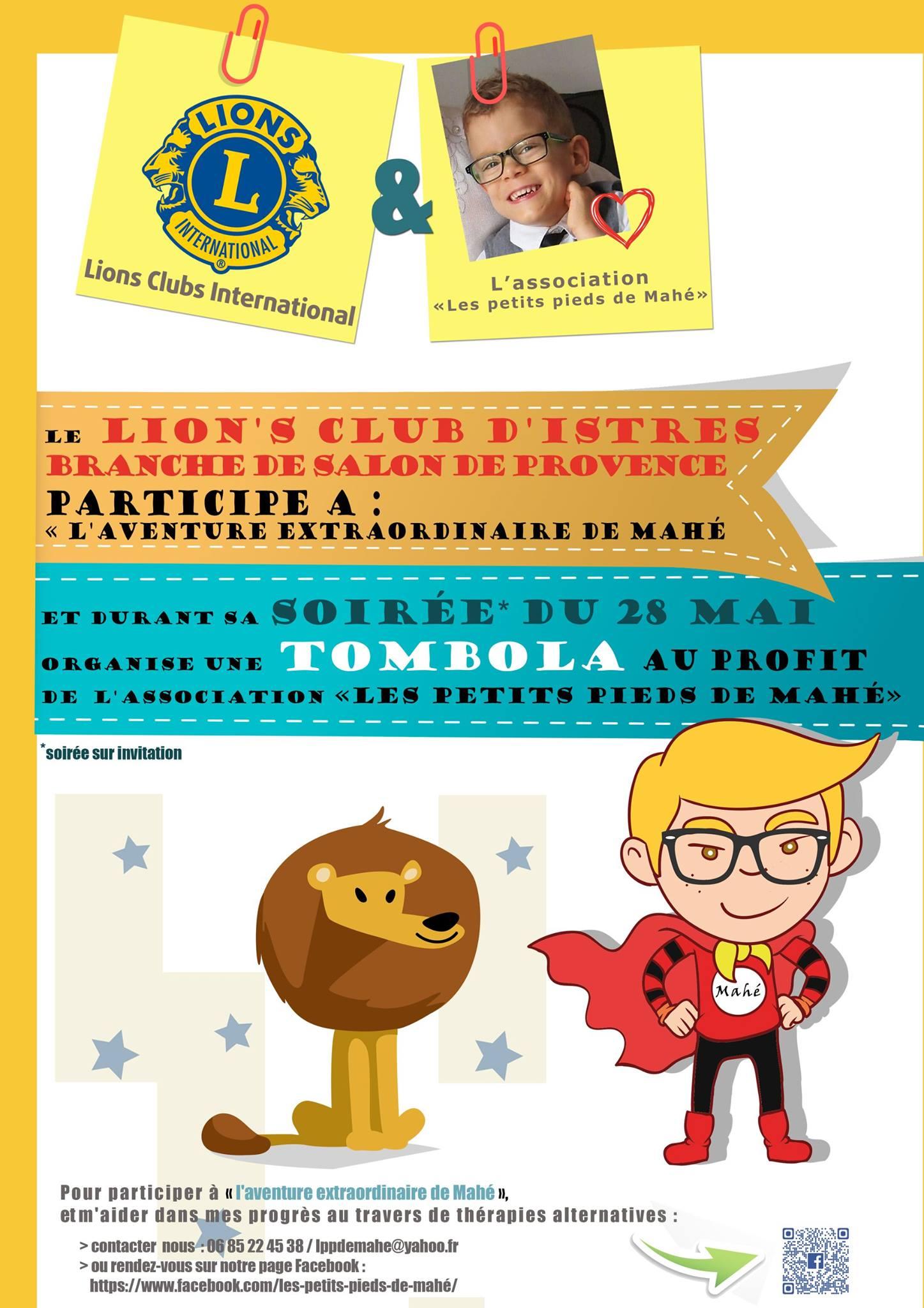 Tombola du lion s club d istres branche de salon de for Cinema le club salon de provence